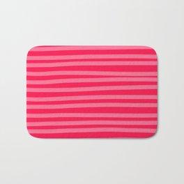 Fuchsia Brush Stroke Stripes Bath Mat