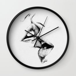 Kiss me today. Wall Clock