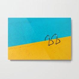 yellow blue pool Metal Print