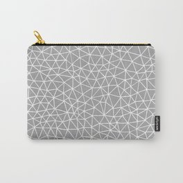 Connectivity - White on Grey Carry-All Pouch