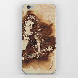 Angus Young Ilustracafe iPhone Skin