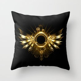 Mechanical Wings ( Steampunk Wings ) Throw Pillow