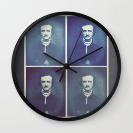 Edgar Allan Poe Horrible Sanity Wall Clock