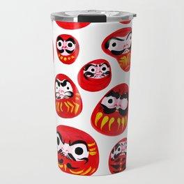 Japanese Daruma Characters Travel Mug