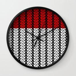 Red Line Red Peak Wall Clock