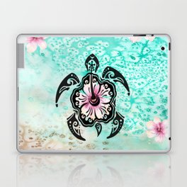 Hibiscus Turtle Laptop & iPad Skin
