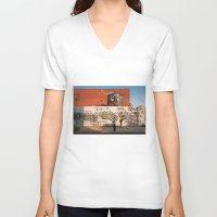 brooklyn V-neck T-shirts featuring Brooklyn by Phil Provencio