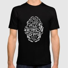 Work Hard & Render Fast Floral 2X-LARGE Black Mens Fitted Tee