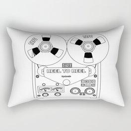 Reel To Reel Line Drawing Rectangular Pillow