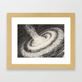 Galaxy Particles Infinite Framed Art Print