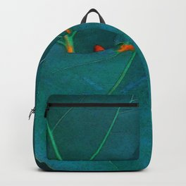 Two Sea Grape Leaves Backpack