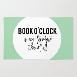 Book o'clock is my favourite time of all! Rug