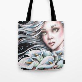 Calla Lily Fairy Tote Bag