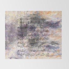 Chopin - Nocturne Throw Blanket