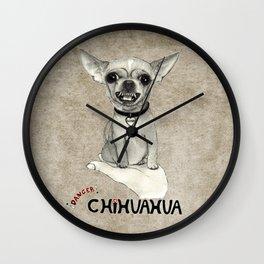 Danger! Chihuahua. Wall Clock