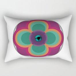 Flowered Eye  Rectangular Pillow