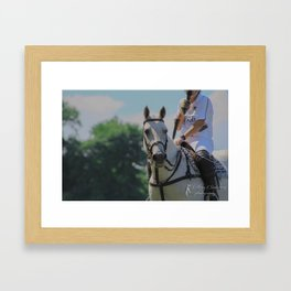 Popcorn the Polo Pony Framed Art Print