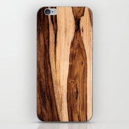 Sheesham Wood Grain Texture, Close Up iPhone Skin