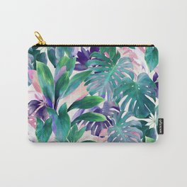 Pastel Summer Tropical Emerald Jungle Carry-All Pouch