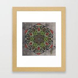 Photosynth Mandala Framed Art Print