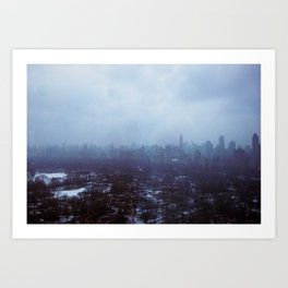 NEW YORK BLUES Art Print
