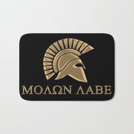 Molon lave-Spartan Warrior Bath Mat
