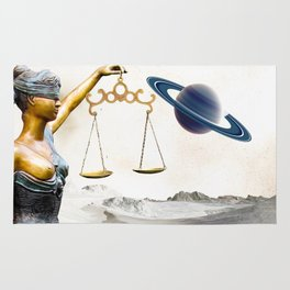 Lady Justice in the New World Rug