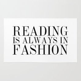 Reading is Always in Fashion Rug