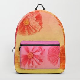 Orange Gradient Flower Grid Backpack