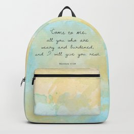 Matthew 11:28 Backpack