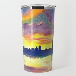 Sunset at the Monument Travel Mug