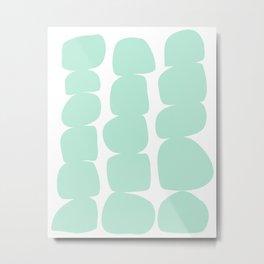 Aqua Stones Metal Print