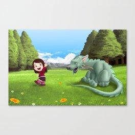 Sofy y el Dragon Canvas Print