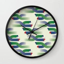 Breakaway - Grassy Field Wall Clock