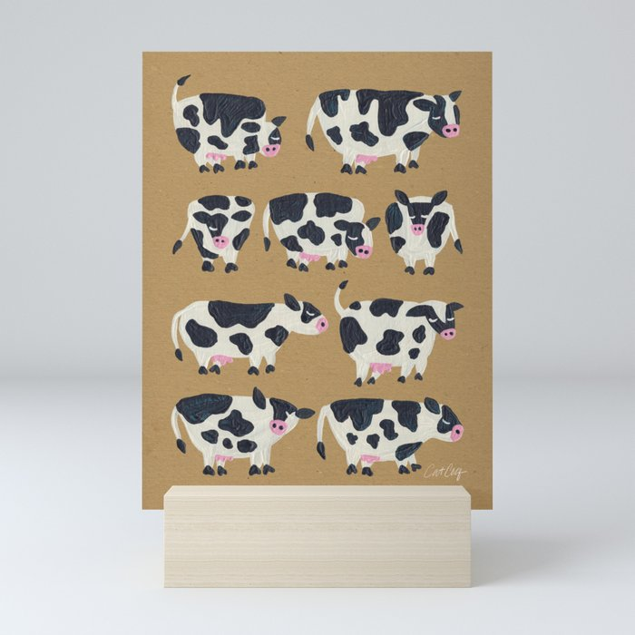Cow Collection - Kraft Mini Art Print