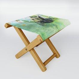Synchronicity by Teresa Thompson Folding Stool