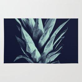 Navy Blue Pineapple Dream #1 #tropical #fruit #decor #art #society6 Rug
