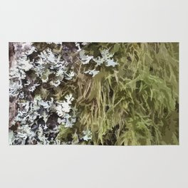Abstract Moss design 01 Rug