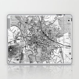 Vintage Map of Hanover Germany (1895) BW Laptop & iPad Skin