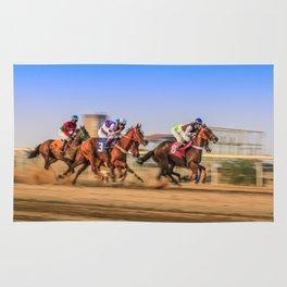 horses racing Rug