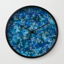 Blue Twinkling Fairy Lights Wall Clock