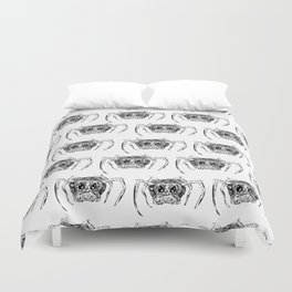 A Creepy Spider Creature Pattern for Halloween! Duvet Cover