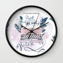 IF YOU DON'T SEE THE BOOK YOU WANT Wall Clock