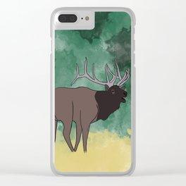 Bull Elk Bugling Clear iPhone Case