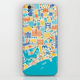 Vianina Barcelona City Map Poster iPhone Skin