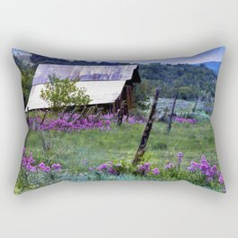 Purple Dames Rocket Ranch Saturated by CheyAnne Sexton Rectangular Pillow