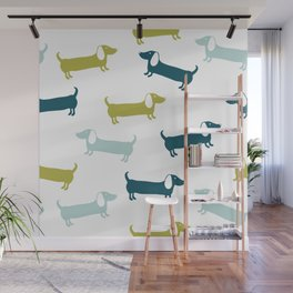 Lovely dachshunds in great colors Wall Mural