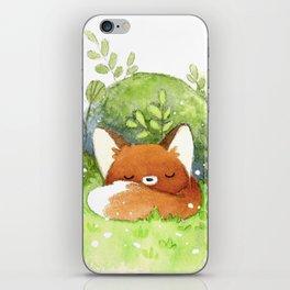 Little fox sleeping iPhone Skin