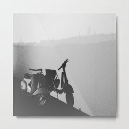 Bike with silhouette Metal Print