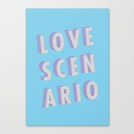 Love Scenario - Typography Canvas Print